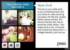 I just took a quiz/test to see who's my Instagram Soul mate and I got Taylor Swift first try lol funny but true!! Go take yours at: http://www.zimbio.com/quiz/cKxas971jwp/Celebrity+Selfie+Soulmate/result/lwcoCE_P9al
