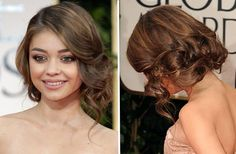 Sarah Hyland's updo - perfect for heart-shaped faces