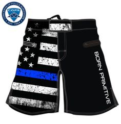 http://American Defender Shorts 2.0 (Thin Blue Line Police Edition PRE-ORDER)