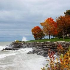 A stormy Lake Michigan at Promontory Point, Hyde Park, Chicago. Photo courtesy of gaia2204 on Instagram.