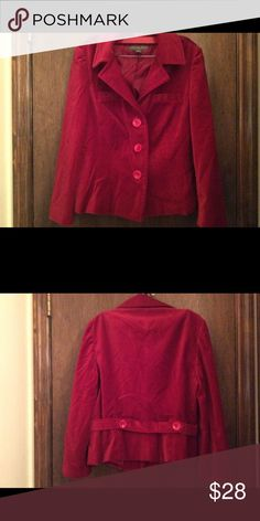 Vintage red velvet jacket Beautiful, festive, luxurious velvet jacket.  Ready for the holidays and garnet January and Valentines in February. Jackets & Coats Blazers