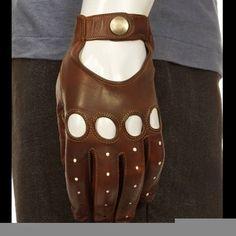 Costume Designer: Erin Benach custom made brown leather driving glov...