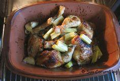 Hühnerbeine mit Rhabarber