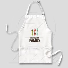 I Love My Family Aprons