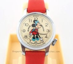 Minnie Mouse Animated Head Bradley Watch Children's Watches, Vintage Toys, Clocks, Minnie Mouse, Childhood, Disney, Products