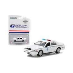 2010 Ford Crown Victoria United States Postal Service (Usps) Police White Hobby Exclusive by Greenlight United States Postal Service, Rubber Tires, Model Car, Diecast Models, Police, Scale, Gender, Ford, Victoria