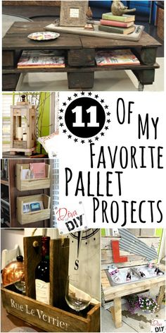 11 pallet projects in one place! From coffee tables to mail organizers we've got you covered. Check out my favorite projects and 5 of my favorite bloggers! DIY your own easy pallet project today!