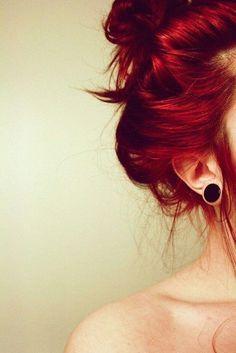 Cabello rojo hermoso cereza (:
