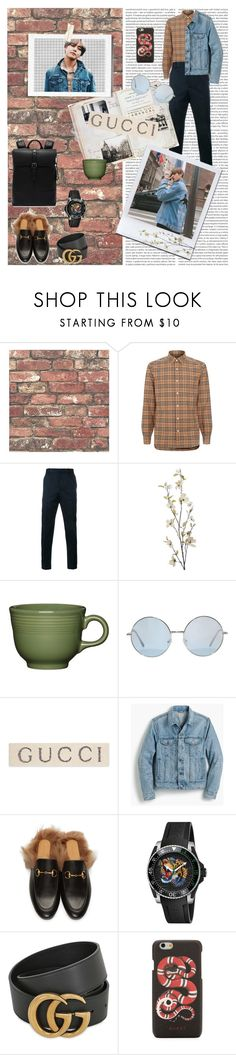 """""""❤️I feel like GUCCI🐍"""" by lalisamanobanbp ❤ liked on Polyvore featuring Brewster Home Fashions, Oris, Burberry, Gucci, Pier 1 Imports, Fiesta, J.Crew, Ted Baker, men's fashion and menswear"""