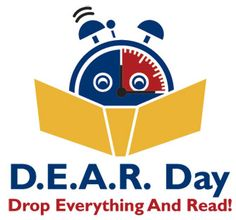 """Previous pinner: """"Public Library of Charlotte & Mecklenburg County has an annual program called D.E.A.R. (Drop Everything And Read) Day.  What a great logo!!!""""  Me: Love the whole idea!!"""