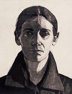 Peri Schwartz__Self-Portrait, 1983. Etching