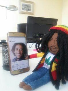 #bobmarley #handmade #doll Bob Marley, Dolls, Handmade, Bob Morley, Hand Made, Puppet, Doll, Craft, Puppets