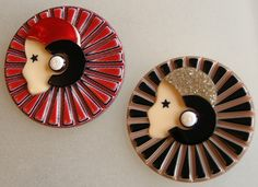 Lea Stein brooches from Vintage Modes