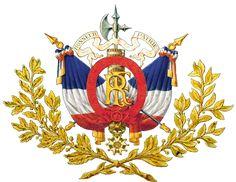 Brasão de armas: França - República francesa, como mostrado na Encyclopédie Larousse (ed. 1898.).  (Esta criação artística não é um símbolo nacional oficial
