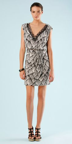 Beaded cotton Hale Bob dress