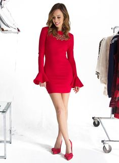 Sydne Style - Los Angeles fashion blogger and People StyleWatch contributor Sydne Summer  shows the best red holiday party dresses from nasty gal