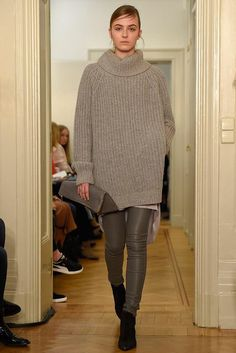 concept+layers+knitwear+leather leggings