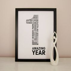 personalised anniversary print by mrs l cards | notonthehighstreet.com - create a personal print, using list of words you provide