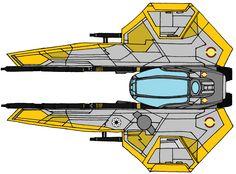Eta-2 Actis-class Light Interceptor Yellow