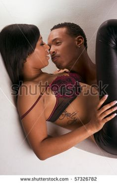 Young black couples having sex