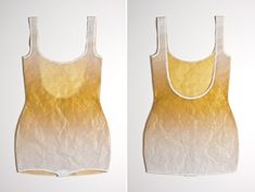 golden U-back suit (front & back)