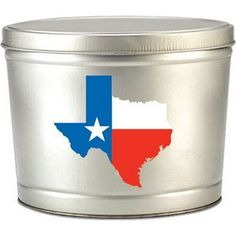 Buy 2 Gallon Silver Texas Gourmet Popcorn Gift Tins in Dallas at Nikkis Popcorn. Fill your tin with any flavors you like! Select from the drop down menu. Salted Caramel Popcorn, Sea Salt Caramel, Candy Gift Baskets, Candy Gifts, Pralines And Cream, Gourmet Popcorn, Popcorn Tins, Popcorn Company