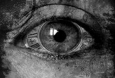 Steampunk eye by Luke Bailey a.a. Luke Bailey, Time Piece Tattoo, Eyes Without A Face, Mona Lisa, Steampunk Clock, Camera World, Geniale Tattoos, Dark Shades, Eye Art