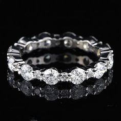 1.35Ct GVS Diamond Eternity Wedding Band 18K White by OroSpot