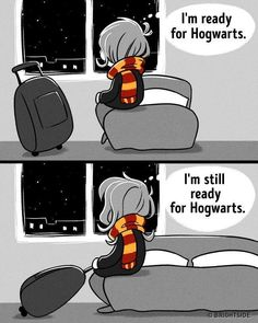 I might be middle aged but I'm ready for Hogwarts, too!