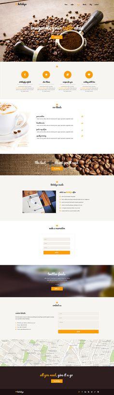 Kataleya - Restaurant Pizza Coffee Wordpress Theme by CreAtive Web Themes, via Behance