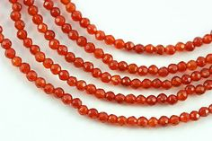 SmartyHands.com: Agate (red) round cut 2mm / 20 cm
