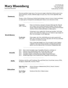 Goldfish Bowl Google Docs Resume Template  Resume Templates And