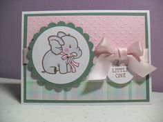 Adorable little girl baby card!
