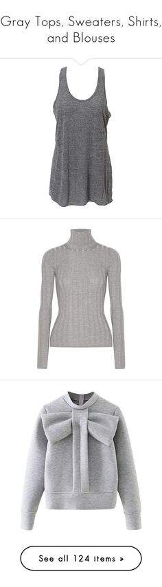 """Gray Tops, Sweaters, Shirts, and Blouses"" by melzy ❤ liked on Polyvore featuring tops, tank tops, shirts, tanks, grey, charcoal shirt, racerback shirt, gray racerback tank, racer back tank and charcoal gray shirt"
