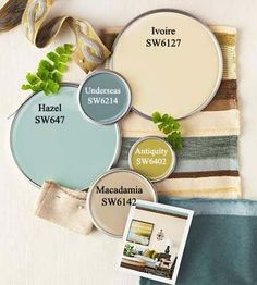 Color Palette via BHG.com (Paint via Sherwin Williams)