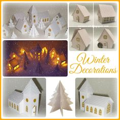 DIY paper Winter Decorations
