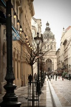 Street in Budapest by navamalika on DeviantArt Beautiful Buildings, Beautiful Places, Places To Travel, Places To See, Travel Around The World, Around The Worlds, Budapest Travel, Budapest Hungary, City Streets