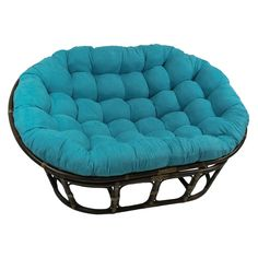 Looking for Blazing Needles Solid Microsuede Double Papasan Chair Cushion, 58 x 6 x 78 , Indigo ? Check out our picks for the Blazing Needles Solid Microsuede Double Papasan Chair Cushion, 58 x 6 x 78 , Indigo from the popular stores - all in one. Double Papasan Chair, Papasan Cushion, Chair Upholstery, Chair Cushions, Chair Pads, Cozy Chair, Comfy Sofa, Outdoor Cushions, Floor Cushions