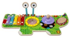 Get your toddler started on his future musical career with the Alex Toys Musical Gator! This delightful musical toy is four instruments in one, with a xylophone, cymbal, drum pad, and washboard. Kids Toy Shop, Toys Shop, Kids Toys, Toy Musical Instruments, Musical Toys, Centro Musical, Alex Toys, Drum Pad, Activity Toys