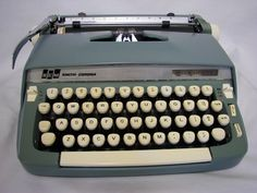 SmithCorona Super Sterling Typewriter 1960s by uniquecozytreasures, $235.00