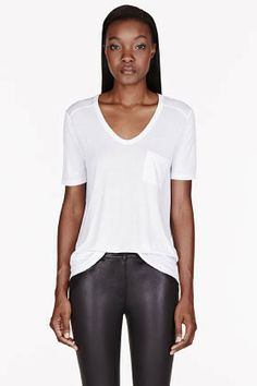 Alexander Wang White Classic Pocket t-shirt on shopstyle.com