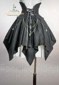 Pirate Lolita Elegant Gothic Bias Diamond Corset Skirt