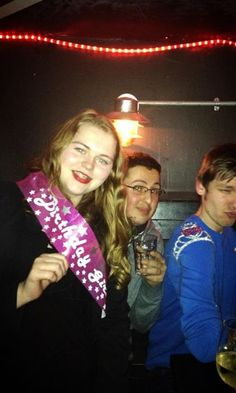When me and Patrick celebrated our birthdays in an Irish pub, including accesories