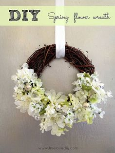 My DIY Spring Flower Wreath Made for under $10!