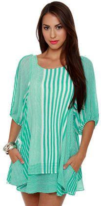 #Lulus                    #love                     #Lucy #Love #Gabriella #Dress #Striped #Dress #Mint #Green #Dress             Lucy Love Gabriella Dress - Striped Dress - Mint Green Dress                                            http://www.seapai.com/product.aspx?PID=1811184