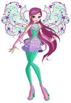 Bloom Cosmix by Winx-Rainbow-Love on DeviantArt Twilight Equestria Girl, Squirrel Tail, Les Winx, Bloom Winx Club, Club Design, Barbie, Texture Painting, Magical Girl, Disney Art