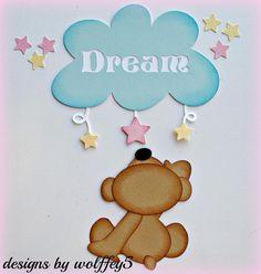 ELITE4U BEAR BABY KID paper piecing premade scrapbook page die cut WOLFFEY5 #Unbranded
