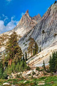 Sierra Nevada Mountain Range - Cathedral Peak -  Yosemite National Park, CA