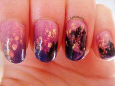 The Nail Artiste: Nail Art: Tangled - Floating Lights