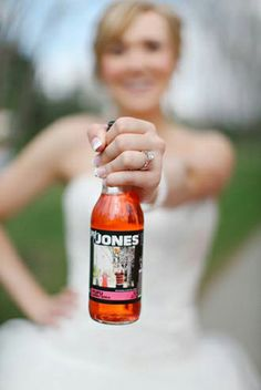 Personalized Wedding Favors by Jones Soda - Your Image, Your Flavor, Your Brand! This is awesome! Lgbt Wedding, Wedding 2017, Wedding Fun, Wedding Bells, Wedding Stuff, Dream Wedding, Wedding Ideas, Homemade Wedding Favors, Handmade Wedding Favours